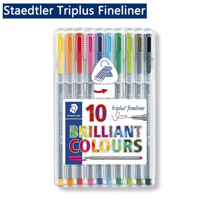 Staedtler Triplus Fineliner 334 Black Fine Tip Felt Tip 0.3mm Colored Marker Pen Drawing Liner Pen Paint Draw Liners Tiralineas
