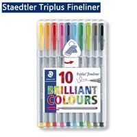 Staedtler Triplus Fineliner 334 punta fina negra punta de fieltro 0 3mm rotulador coloreado delineador de pintura Tiralineas