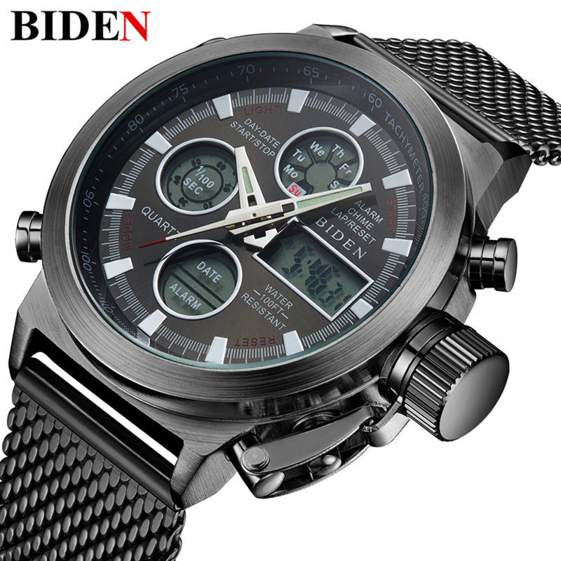 Reloj Hombre 2017 Watches men luxury brand Sport dive 50m LED Military watch Men's quartz mens watch Man Clock Relogio Masculino