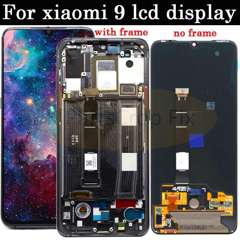 6.39 ''AMOLED Display LCD Para xiaomi mi mi 9 9 xiaomi 9 LCD Display Touch Montagem Digitador Da Tela com moldura + ferramentas