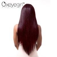 Oxeye Girl Burgundy Brazilian Hair Weave Bundles 4 Bundles Deal 99J Red Straight Hair Bundle Non