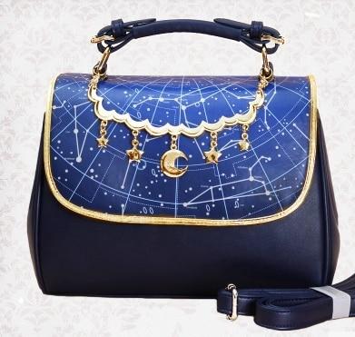 Здесь продается  Princess sweet lolita bag original new starry sky constellation printing daily two functions portable shoulder bag MXY186  Камера и Сумки