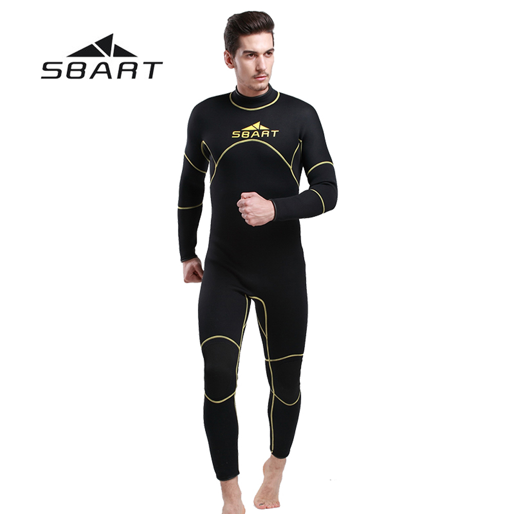 SBART 3mm Neoprene Men Wetsuit Full Body Spearfishing Beach Swimwear Scuba Diving Snorkeling Wetsuit One-Pieces Suit Jumpsuit sbart upf50 806 xuancai