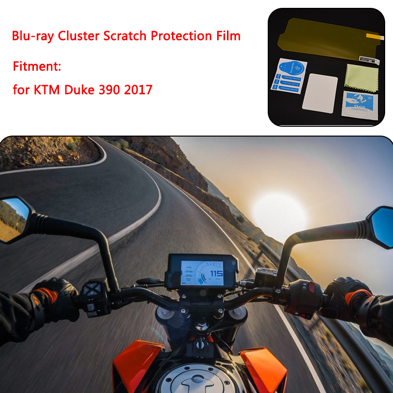 for <font><b>KTM</b></font> <font><b>Duke</b></font> <font><b>390</b></font> <font><b>DUKE</b></font> <font><b>2017</b></font> Instrument Dashboard Cluster Scratch Protection Film Screen Protector Blue Light Blu-ray image