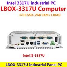 Intel I5-3317U 1.8 ГГц 32 ГБ SSD 2 ГБ RAM Промышленный Панельный Компьютер низкого энергопотребления и высокой производительности (LBOX-3317)