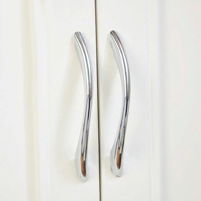 Modern Bathroom Kitchen Drawer Pull Handles Silver Chrome Dresser Pulls /  Cabinet Handles Pulls Knobs Door Knob 128 Mm In Cabinet Pulls From Home ...