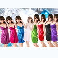 6 colores nuevo 2016 pijamas de la ropa interior del cordón de correa se desliza vestido Slip lencería Sexy Ladies vestido Slips íntimas
