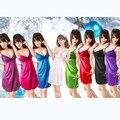 6 cores novo 2016 pijamas roupa Lace mulheres completa do Strap deslizamentos vestido de Lingerie Sexy senhoras deslizamento vestido deslizamentos Intimate