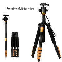 QZSD Q570A Professional Tripod Monopod for DSLR Camera Ball Head Travel Portable Reflexed Photography Tripod Max 13lb