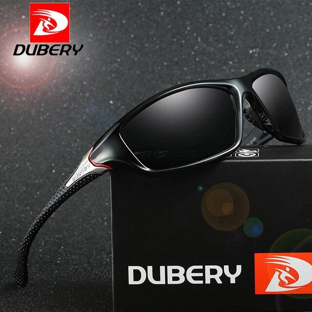 bb6bbd52a0fc8 DUBERY Marca Designer Unidade de Viagem Ao Ar Livre Polarizada Óculos De  Sol Dos Homens Do