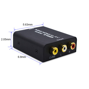 Image 4 - 4K adattatore da HDMI a AV convertitore Video HD da HDMI a RCA AV/CVSB L/R Video 480P 720P 1080P 2160P supporto NTSC PAL HDMI2AV