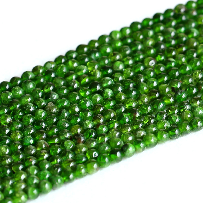 Echte Natürliche Green Chrom Diopsid Alalite Runde Lose Stein Perlen 3-12mm Fit Schmuck 15