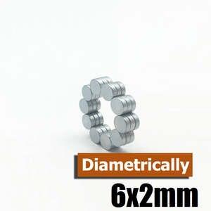 "1//4/""x1//12/"" Fridge Magnet 6mmx2mm Super Strong Neodymium Disc Magnets 6x2mm"