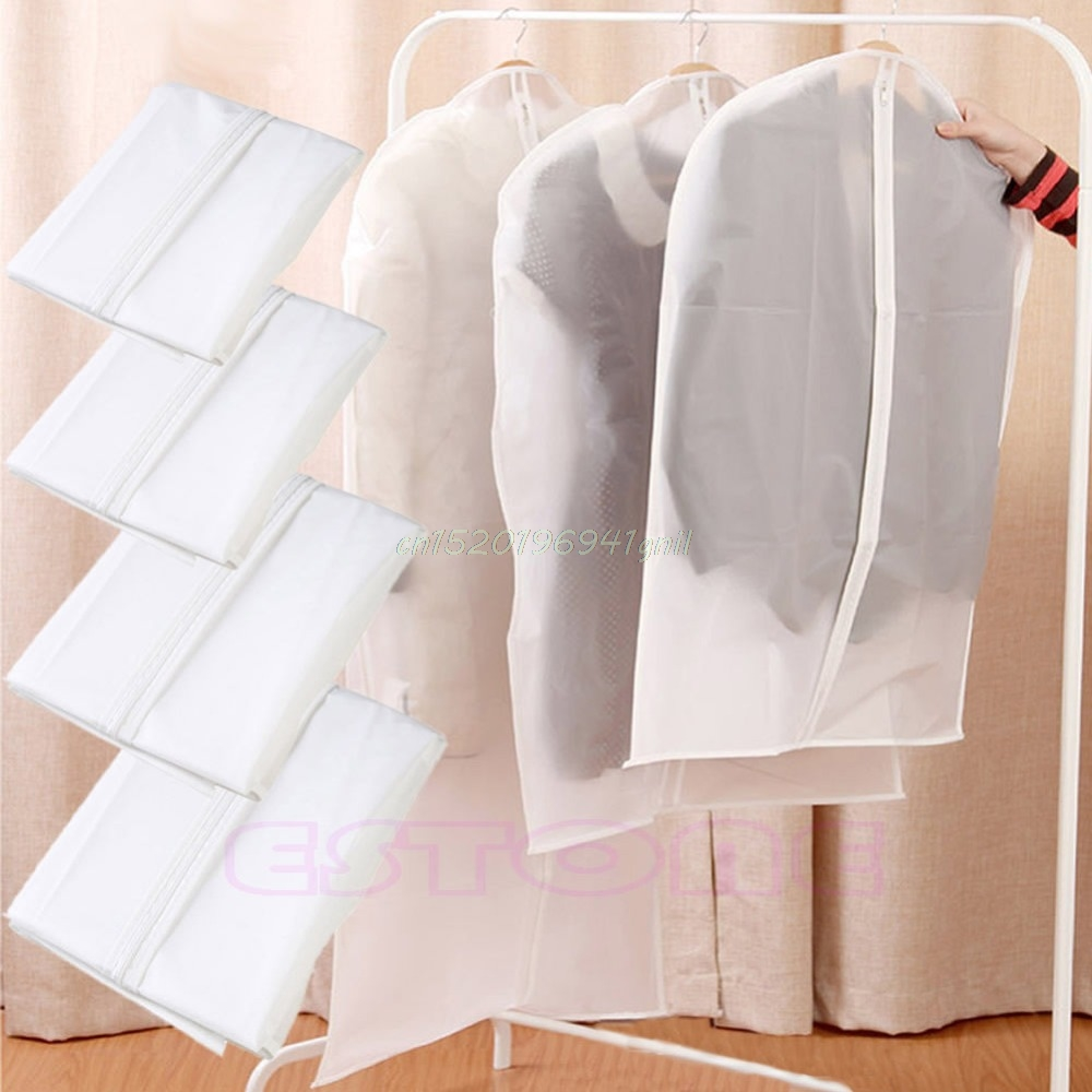 S/M/L/XL Garment Suit Dress Clothes Coat Travel Protector Dustproof Hanger Cover#T025#