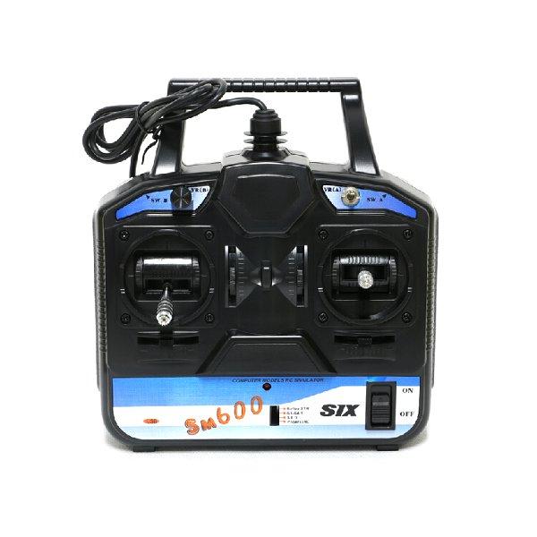 Nueva llegada flysky RC simulador FS-SM600 6CH simulador USB apoyo G6 G7 xtr FMS para 3D helicóptero Modo avión 1 /MODE2