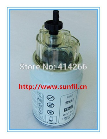 ФОТО High quality Diesel engine  PL270 cup fuel water separator filter FS19907 truck ,5PCS/LOT,FREE SHIPPING