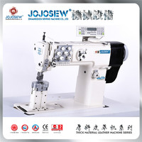 JS 1780DE computer direct drive wide needle spacing sofa leather goods double needle integrated feeding special sewing machine