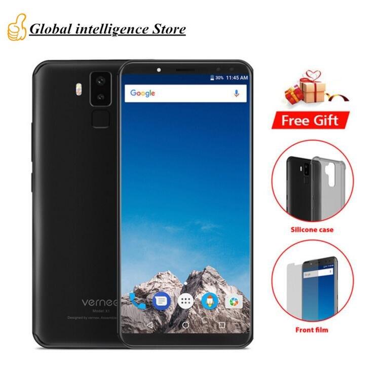 Оригинальный vernee X1 6,0 FHD + 4G LTE MTK6763 Octa Core мобильного телефона 6 ГБ Оперативная память 6 4G B Встроенная память 16MP 4 камеры OTG 6200 мАч 9 В/2a отпечатков...
