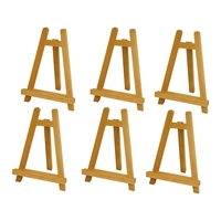 Mini Wood Display Easel Wood Easels Set Wood Display Artist A Frame Easel For Paintings Craft Small Acrylics Oil Projects