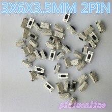 G71Y Высокое качество 50 шт./лот SMT 3X6X3,5 мм 2PIN Тактильные Такт кнопочный микропереключатель G71 мгновенный Лидер продаж
