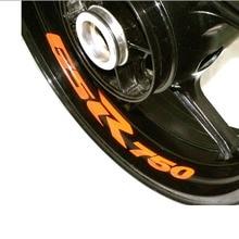 Motocycle Wheel Sticker Inner Rim Decal Reflective Stickers Stripes for SUZUKI GSR 750 GSR750 for suzuki gsf650 gsf650s gsf1000 gsr 600 750 1000 gsr600 colorful motorcycles wheel stickers reflective rim moto stripe tape