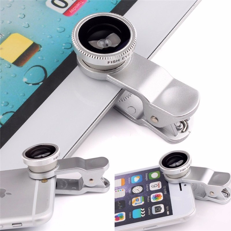 KHP 3 In 1 Universal Phone Lens Clip camera Mobile Phone Lenses For iphone 4 4S 5 5S 6 6S Samsung Galaxy S5 Fish Eye+Macro+Wide 3