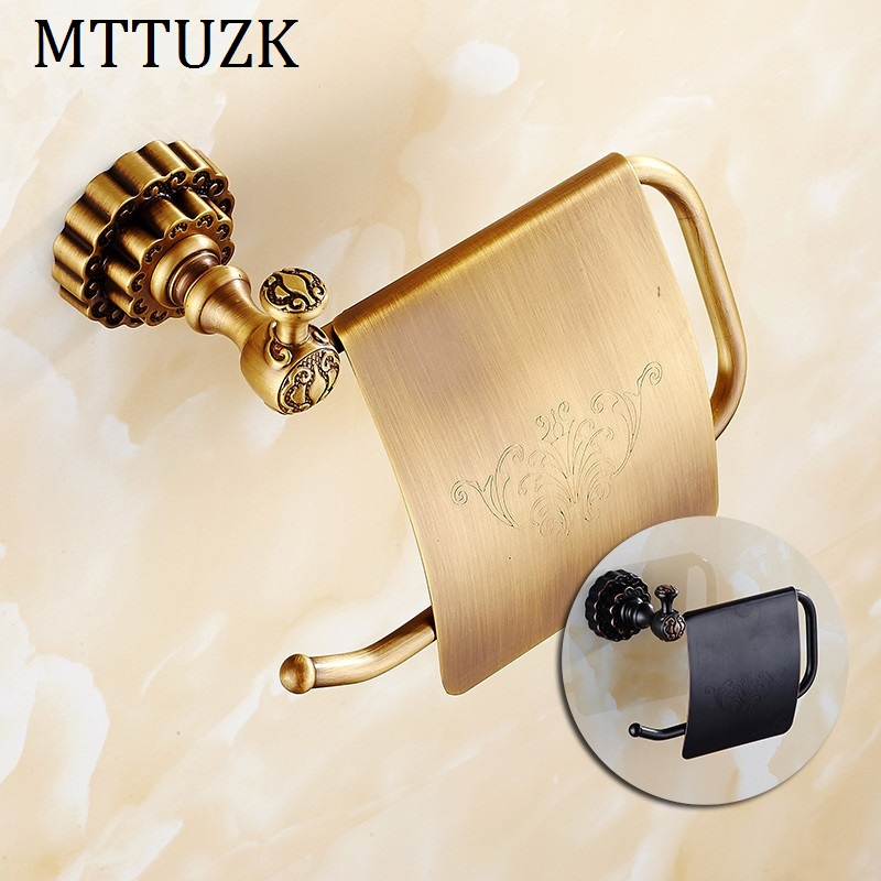 цены  MTTUZK Antique bronze finishing Paper Holder/Roll Holder/Tissue Holder With Carved,Paper Towel Holder Bathroom Accessories