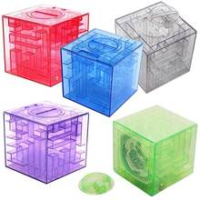 3D Cube Crystal Puzzle Game Maze Piggy Bank Creative Children Toy Money Saving Box Toys For Children  S7JN