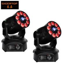 Rabatt Preis 2 Paket 200 Watt Led Moving Head Spot Waschen 2in1 Licht 75 Watt Weiß + 9*12 Watt RGBWA Lila LEDS Mini Drehen Gobo/Farbe rad