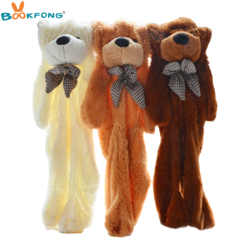 60CM To 200CM Cheap Giant Unstuffed Empty Teddy Bear Bearskin Coat Soft Big Skin Shell Semi-finished Plush Toys Soft Kid Doll