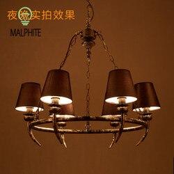 Amerykański przemysł Retro żyrandol oświetlenie oświetlenie do salonu żyrandol do restauracji Youlaike rustykalny  w stylu Vintage oprawy oświetleniowe