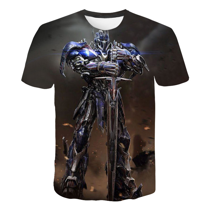 2018 summer new 3d printed transformers optimus prime t shirt men clothing casual fashion Hot Movie men women tshirt Top shirt