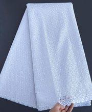 Tela de encaje blanco puro para parejas, tela de encaje de alta calidad suave de 5 yardas