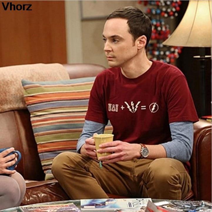 Sheldon cooper same style short sleeve   t     shirt   tee The flash costume clothing joggers cool funny   t  -  shirts   men women