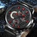 2016 NAVIFORCE Часы Мужчины Luxury Brand Мода Повседневная Кварцевые Наручные часы Кожа Водонепроницаемый Спортивные Часы Человек Часы