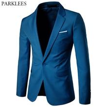 Suit Blazer Jacket Wedding-Costume Business-Suit Slim-Fit Homme Notched One-Button Lapel