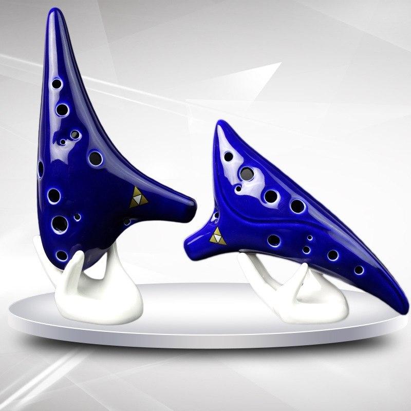 Ocarina Musical Instrument Student Dedicated 12 Hole Flute Piccolo Blue