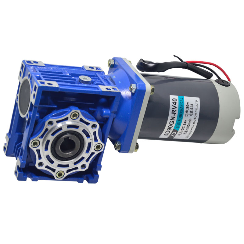 DC RV40 Worm self-locking gear motor 90W speed control torque motor positive and negative electric motor 12V 24V dc 12v 60w 30rpm 6 n m plastic gear worm and gear garage door gear motor negative and positive rotation with self locking