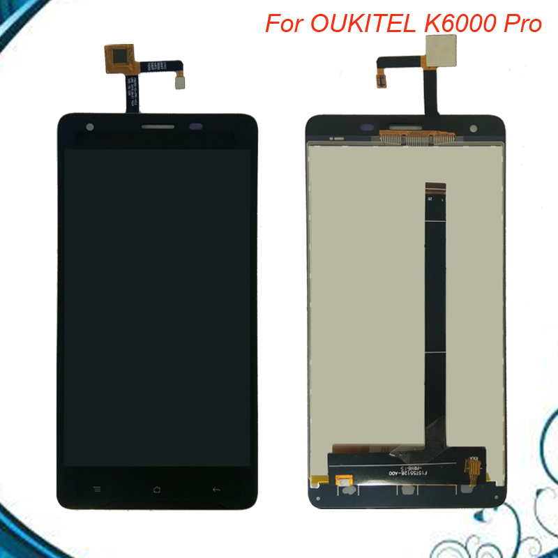 High quality 5.5 inch For Oukitel K6000 Pro lcd screen Digitizer Touch screen+LCD Display Assembly replacement