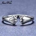 JUNXIN красивое с медведем и собакой кошачьи кольца с лапой для женщин 925 серебро/золото заполненное Открытое кольцо женское животное когти кольцо повседневные корейские ювелирные изделия подарок - фото
