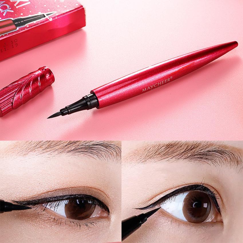 Black Waterproof Liquid Eyeliner Make Up Beauty Comestics Long-lasting Not blooming Eye Liner Pencil Makeup Tools for eyeshadow