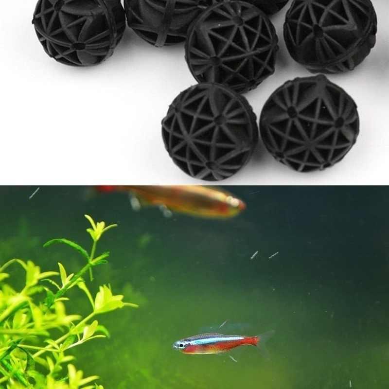 20 قطعة حوض السمك بركة بيو كرات 16 مللي متر الأسماك خزان وسيط مرشح البحرية مجموع (16 مللي متر) نوعية المياه استقرار