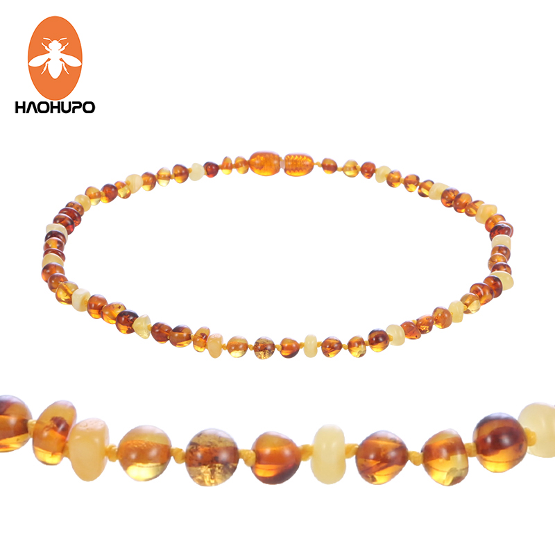 HAOHUPO Natural Amber Necklace Supply Certificate Authenticity Genuine Baltic Amber Beads Baby Necklace Jewelry for Adult Kid