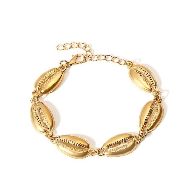 Women Gold Shell Bracelet...