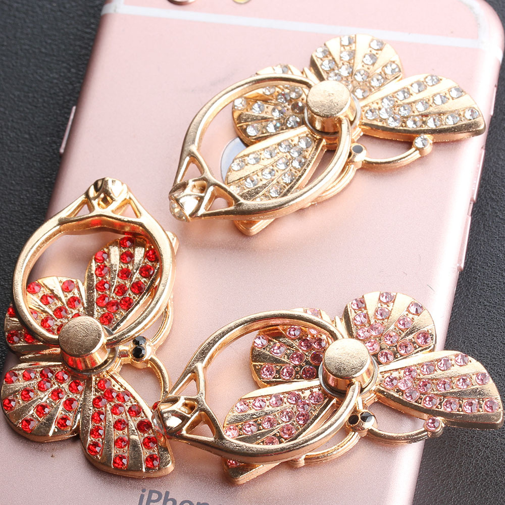 10 pcs Butterfly Phone Finger Ring Holder for iPhone iPad Samsung Xiaomi Huawei OnePlus Vivo Oppo Smartphones Tablets Support