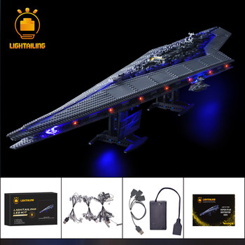 LIGHTAILING LED Light Kit For Star War Series Super Star Destroyer Building Block Light Set Compatible With 10221 lepin 05062 1359pcs series the imperial super star destroyer set building blocks bricks compatible with 75055 boy toy