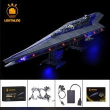 Lightning ensemble de lumières de blocs de construction, pour la série Star War Kit déclairage LED, Super destructeur, Compatible avec 10221