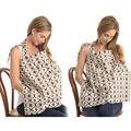 Capa de Enfermagem infantil de Alimentação Do Bebê de Algodão Respirável Mãe Capa De Enfermagem roupas Impresso Bolso Mulheres Amamentação Capa de Enfermagem