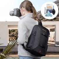 K&F CONCEPT Camera Shoulder Bag Waterproof Multifunctional Casual Travel Bag With Removable Inner Dividers For DSLR Laptop Case