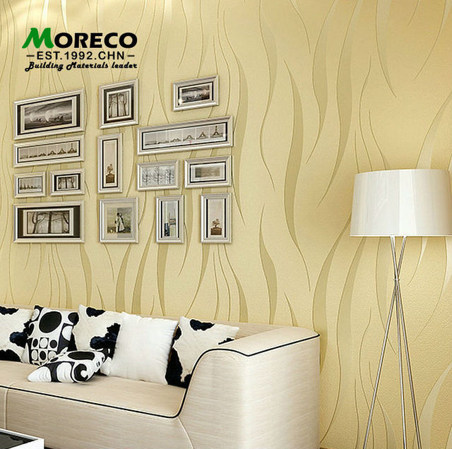 Moreco 3d modern plant fiber simple style wallpaper Home/office ...